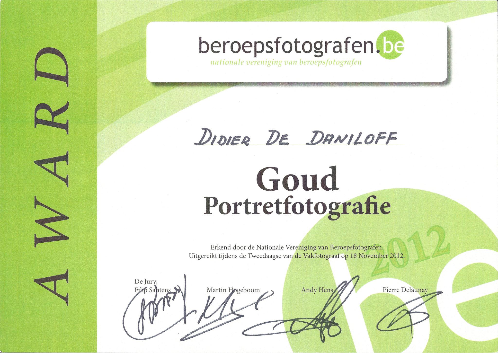 Award beroepsfotografen
