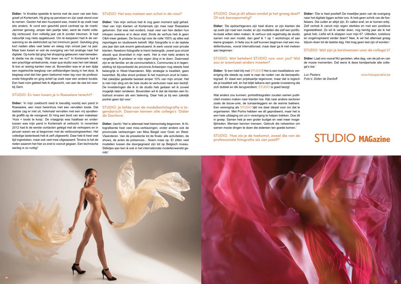 Artikel Studio Magazine 2018 nummer 7